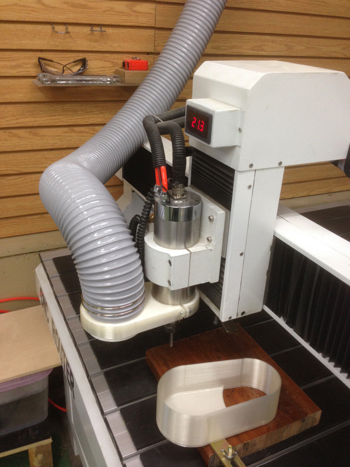 CNC Router dust collector and 3D printed dust shoe