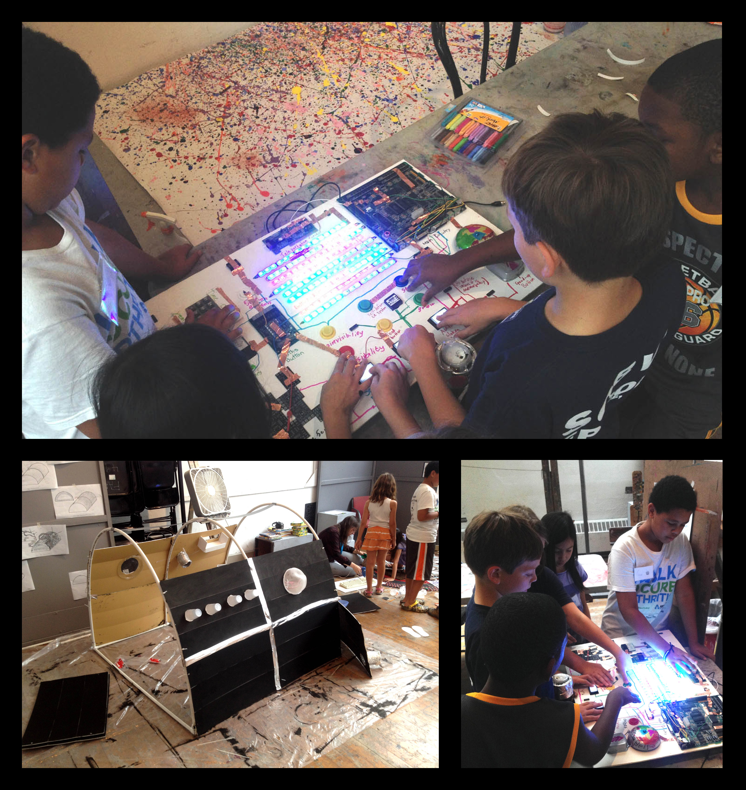 Hive76 teams up with PAFA Art Summer Camp to build Epic Time Machine!