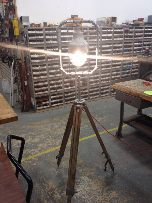 Surveyor's Tripod Lamp