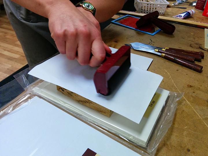 WORKSHOP: Woodblock Printing Valentines Cards, Thurs. Feb 12. 7-10 pm