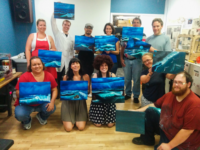 Intro to Oil Painting Workshop: Bob Ross Paint-Along! Saturday, March 7th, 1 – 4 pm
