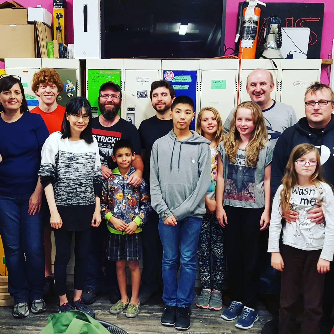 Photos from: Stand with Ahmed Arduino Binary clock Workshop #IStandWithAhmed