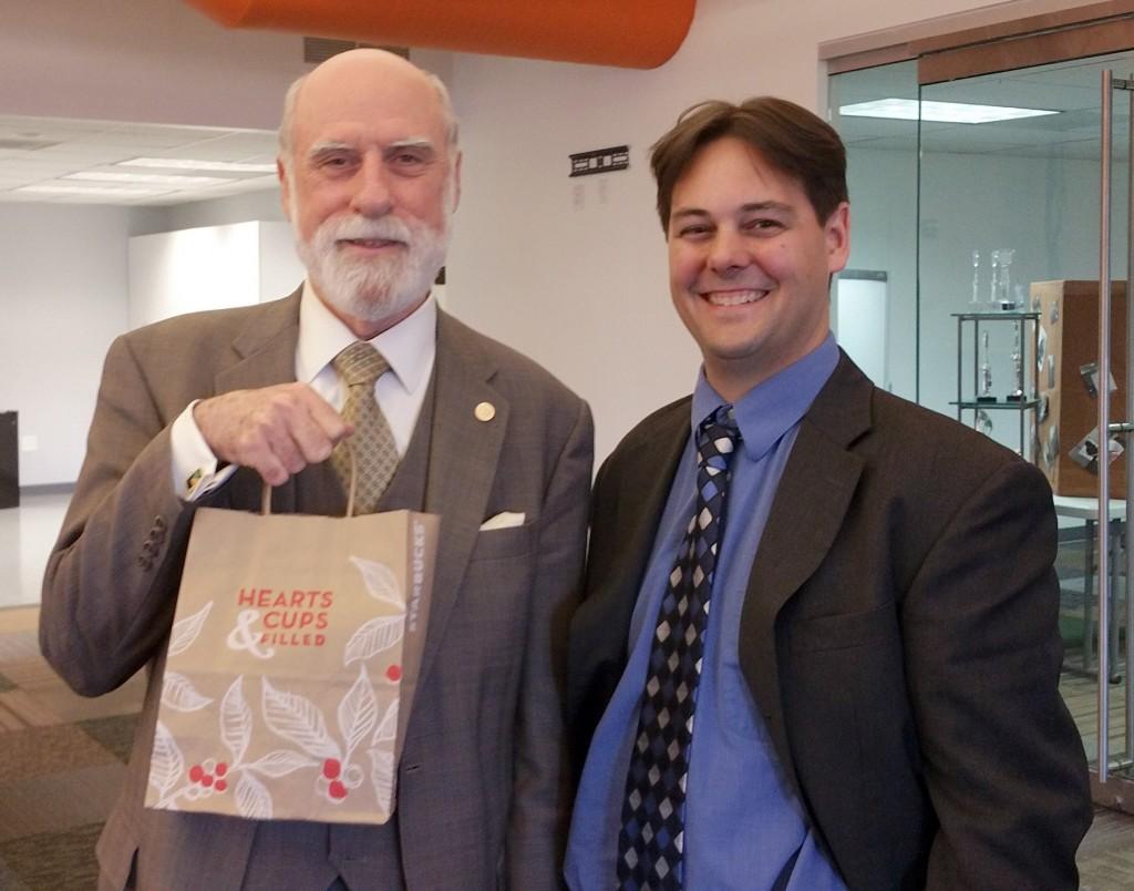 Google's Vint Cerf visits Nova Labs