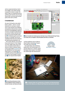 Michelle's Hamstrometer is in Raspberry Pi Geek!