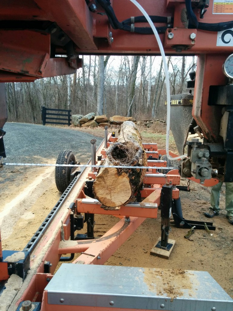 Wood milling demo at Belle Grey Farm