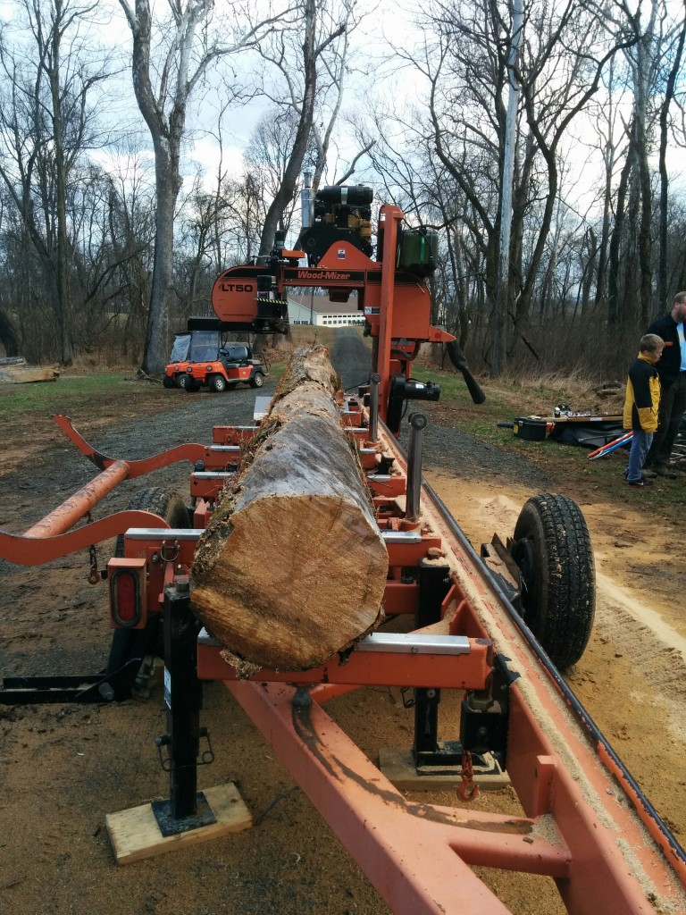 Wood milling demo at Belle Grey Farm