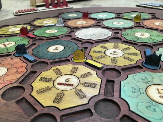 Lasercut Settlers of Catan